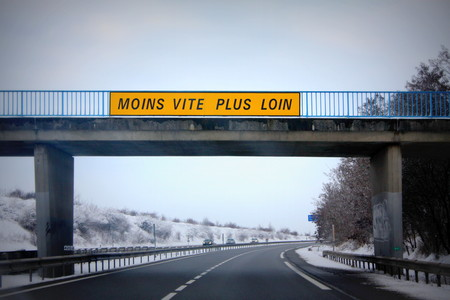 signposted: highway In France