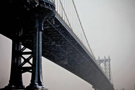 Manhattan bridge in deep treated colors giving a great visual photo