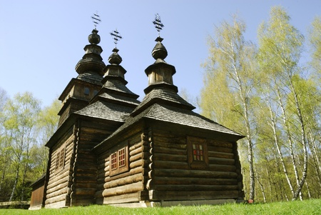 lvov: Old wooden church in Lvov Stock Photo