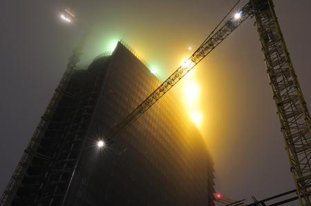 kiev: office building construction in Kiev Ukraine Stock Photo