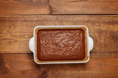 homemade chocolate cake on a baking sheet