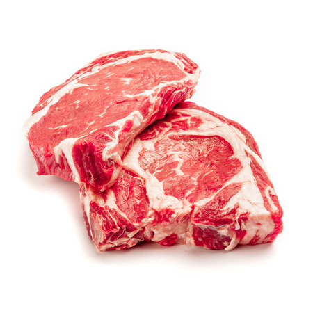 horseflesh: Uncooked organic shin of beef meat isolated on a white background Stock Photo