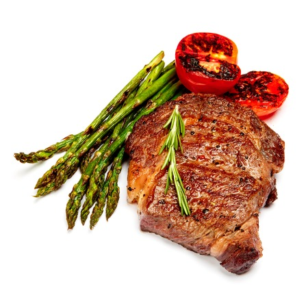 horseflesh: Roasted organic shin of beef meat isolated on a white background