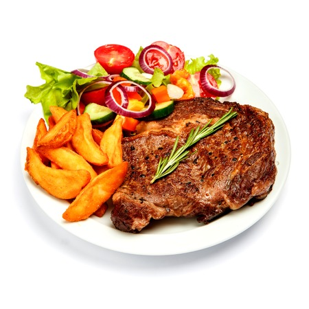 Roasted organic shin of beef meat isolated