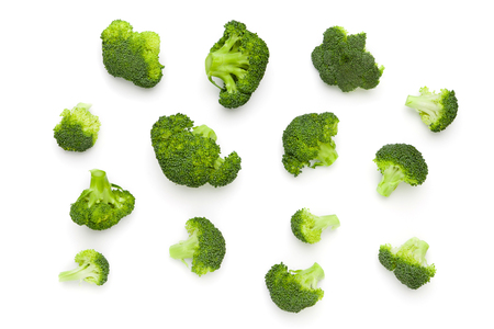 fresh Broccoli salad isolated on white background