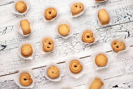 bisquit: Studio shot of bisquits on wooden background