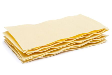 dried uncooked lasagna pasta sheets