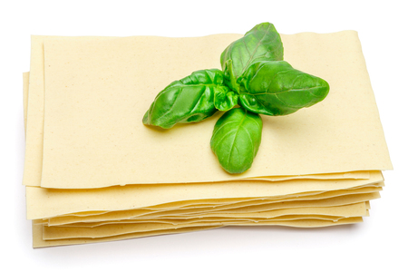 dried uncooked lasagna pasta sheets