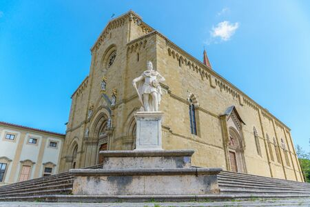 Catholic cathedral in the city of Arezzo Italy Stock Photo