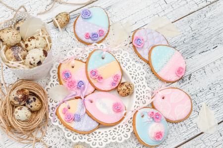Beautiful glazed Easter cookies