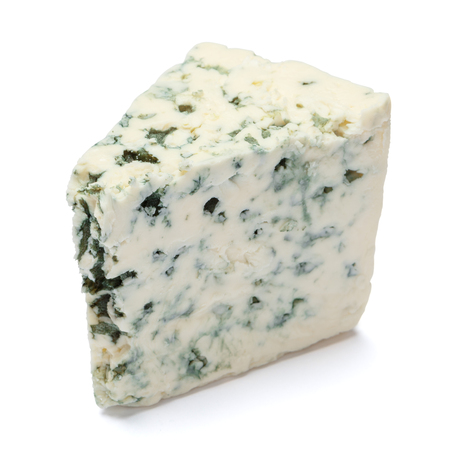 blue cheese on a white background. Clipping path