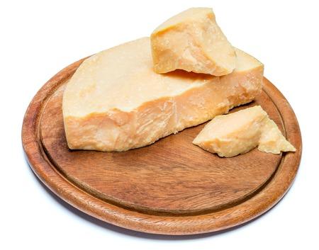 pieces of parmesan or parmigiano cheese