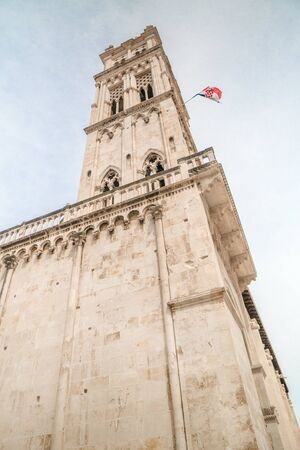 Tower of the church of Saint Lovre in Trogir, Croatia
