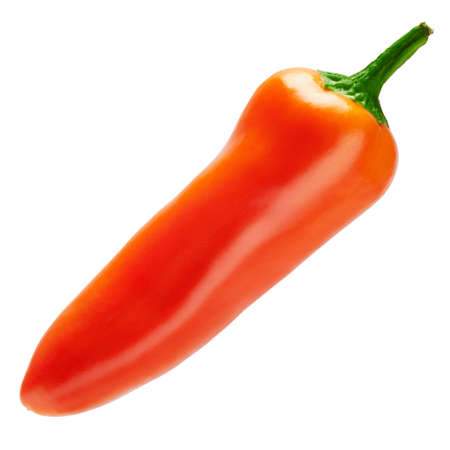 Chili or sweet pepper isolated on white background