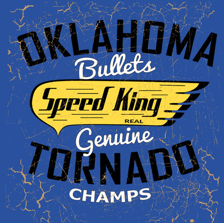 oklahoma: Oklahoma Speed typography tshirt graphics vectors Illustration