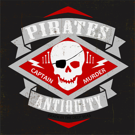 antiquity: Pirates tshirt typography graphic vector