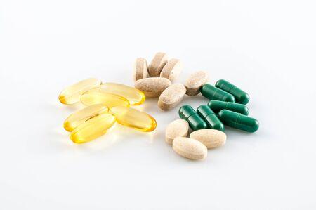 pastillas: Píldoras de suplemento para builnding cuerpo y el aceite de pescado omega 3