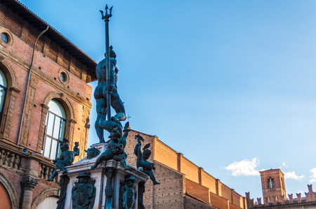 neptun: Bologna emilia romagna italy city europe street Editorial