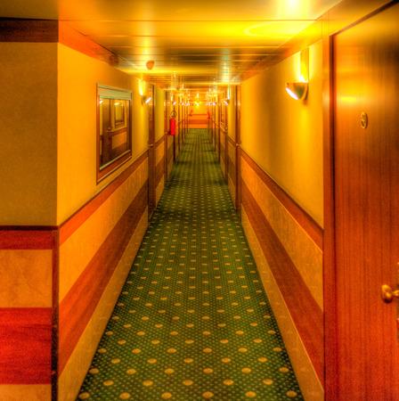 aisle: Hdr of Hotel aisle - shining movie like