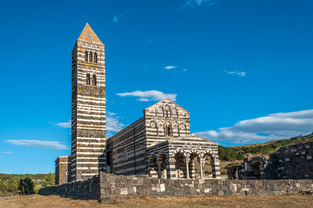 blessed trinity: The little Church of Saccargia in the middle of sardinian country - Italy