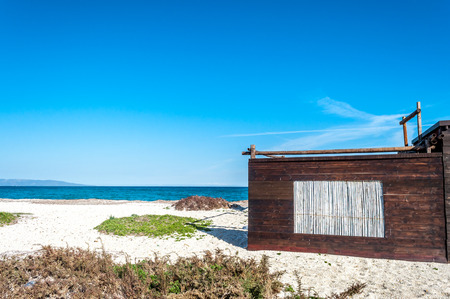 Wooden cottage with reeds window on the beach of Ezzi Mannu, near Stintino - Sardinia