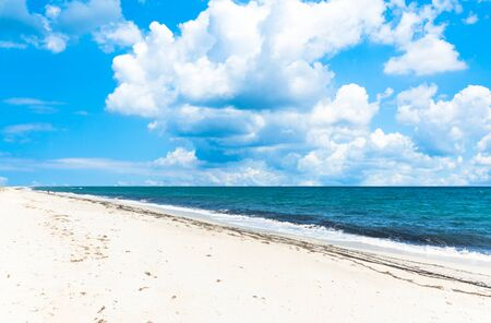 landscape of empty tropical beach