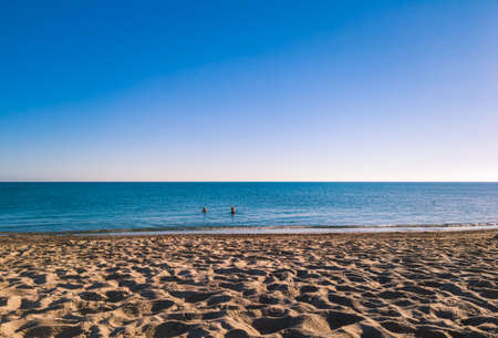 beach in summer morning