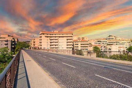 small bridge in an Italian city