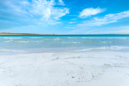 landscape of empty tropical beach with white sand and turquoise water Foto de archivo