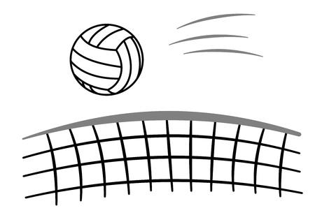 Sport ball volleyball with net Stock fotó