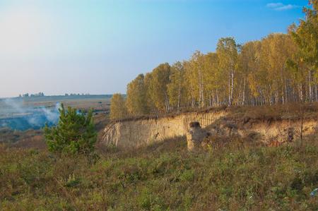 siberia: Autumn in the Village. Siberia.