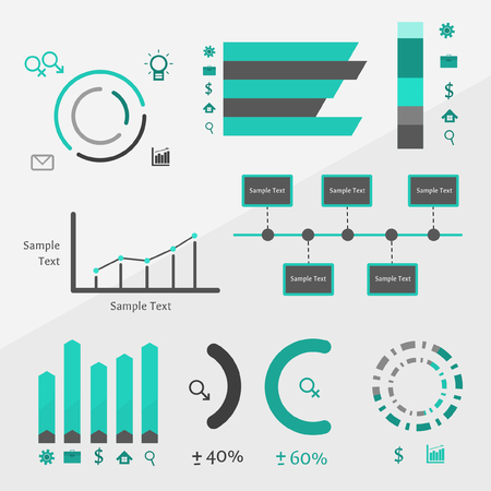 set of infographics, can be used for statistics, presentation, report