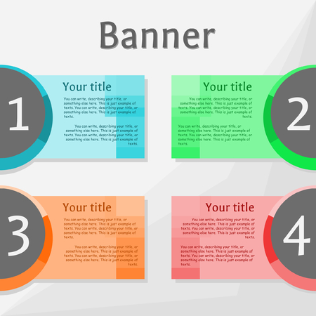 colors: 4 banners with different colors Illustration