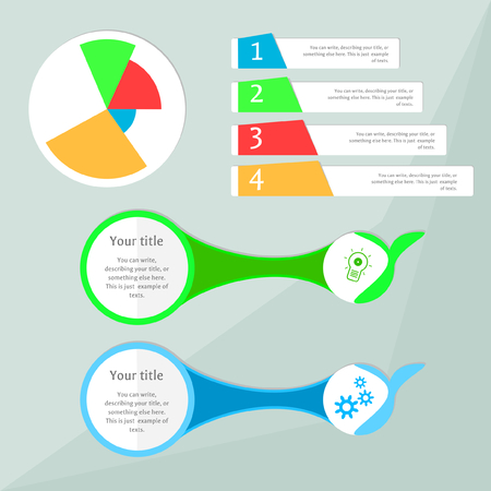 describe: banners with pie chart, can be used for presentation