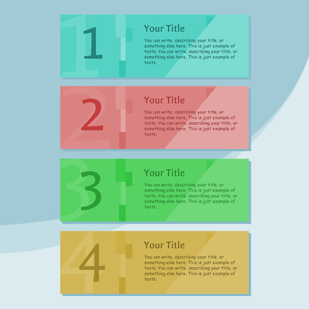 explanations: 4 banners with different colors Illustration