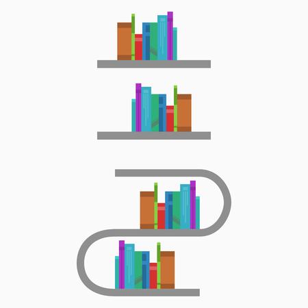 book racks: book shelf with organized books