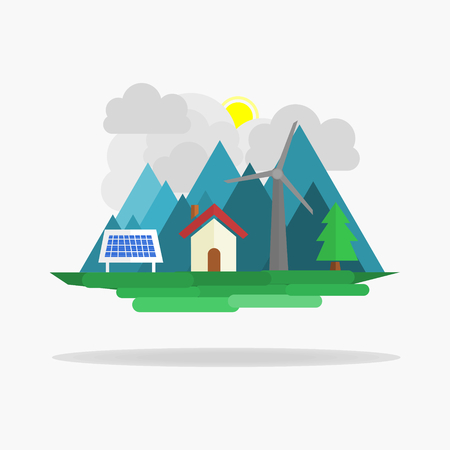 energy use: a village that use environmentally friendly energy