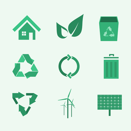 green environment: set of icons about green environment
