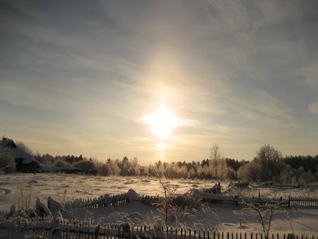 a dream sunset in winter photo