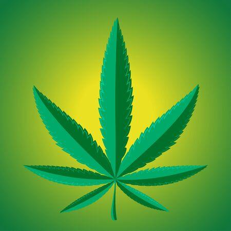 Marijuana leaf Vector illustration.