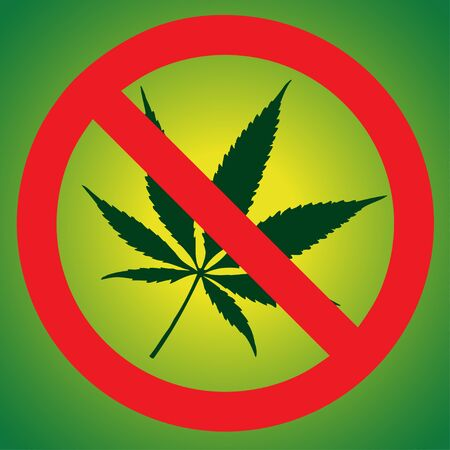 Stop marijuana Vector illustration