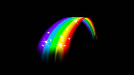 Rainbow on a black background.