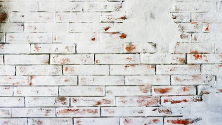 White brick wall background for texture.