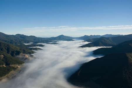 marlborough: Foggy Valley, Marlborough Sounds, New Zealand