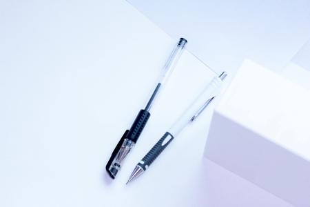 office item pen and pencil Stok Fotoğraf