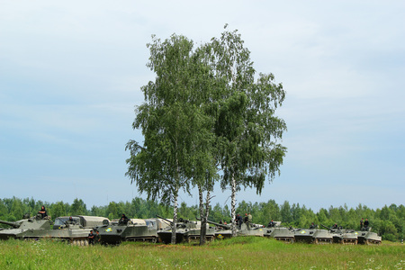 Russian armored vehicles. Military training ground Alabino. Demonstrations Forum Army 2015