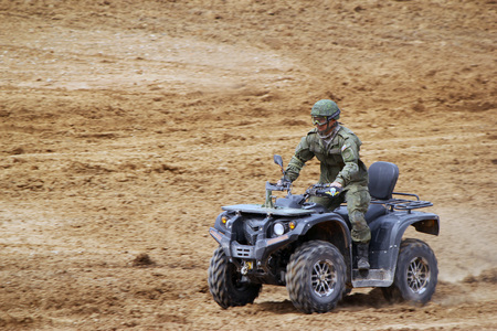 Russian military ATV. Military training ground Alabino. Demonstrations Forum Army 2015 Editorial
