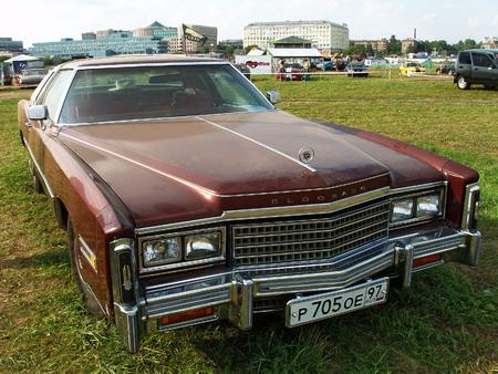MOSCOW, RUSSIA - July 15, 2008: Brown Cadillac Eldorado exhibition Autoexotic 2008
