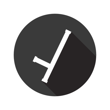 Baton vector flat icon with shadow. Round button Illustration