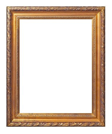 gold frame isolated on white Stock Photo